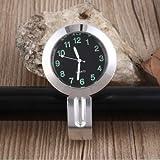 ICTRONIX 7/8'' 1''Universal Motorraduhr Uhr Uhren Ziffernblatt für Motorrad Fahrrad Lenkeruhr Fahrrad Silber