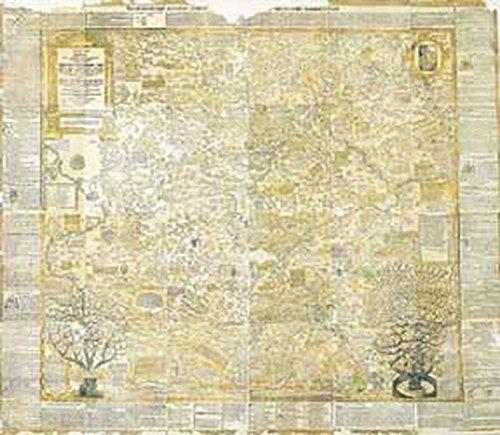 Historische Karte: LAND THÜRINGEN 1625 [gerollt auf 2 Bögen] Thyringische Mapp - Thüringer Landtafel