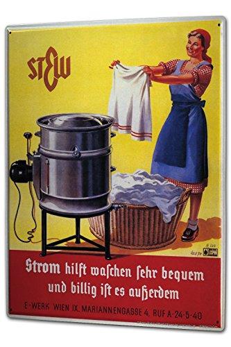cartello-targa-in-metallo-xxl-retro-potenza-di-lavaggio
