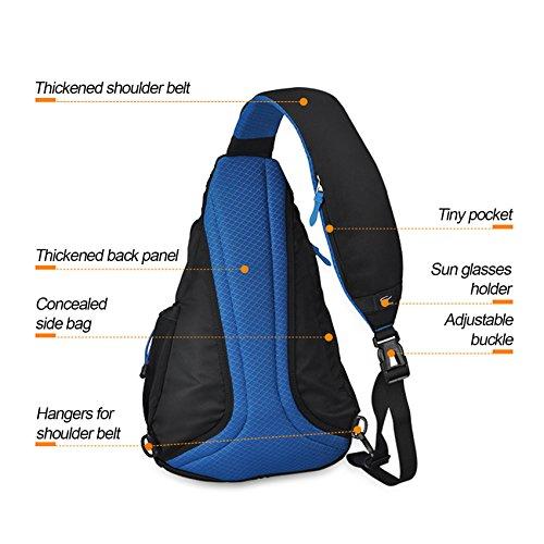 HOT SALE! MIXI Sling-Rucksack Crossbody Bag Brusttasche Schulterücksack Umhängetasche Fahradfahren Urlaub Tuxedo Schwarz