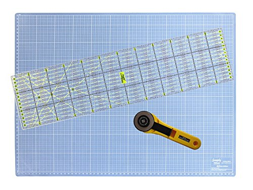 Snaply A2 Schneidematte + Rollschneider + Patchwork-Lineal
