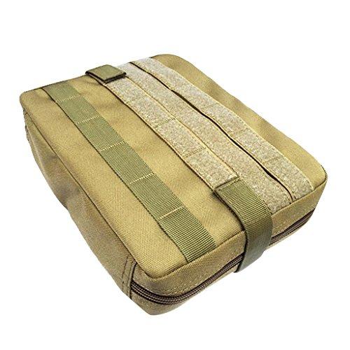 Gazechimp Molle Beutel Pouch Rucksack Zusätzlicher Packsack Stausack Sportrucksack Zusatztaschen Braun