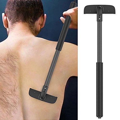QJHP Haarentfernung Zurück Herren Handheld Schmerzlos Mach Es Selbst Verstellbare Dehnbare Rückenrasierer Für Alle Körperteile Haare,2Pcs