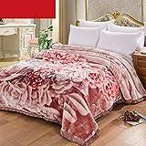Eastery Blanket Blumenmuster Schlafzimmer Bett Bedeckt Mit Decke Vier Jahreszeiten Freizeit Einfacher Stil Decke Weich Und Bequem Doppelte Isolierung Wolldecke (Größe 175 * 215Cm)