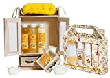 BRUBAKER set da bagno benessere igiene personale - 14 pezzi beauty limone e mandorle