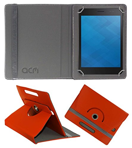 Acm Rotating 360° Leather Flip Case for Dell Venue 7 3741 Cover Stand Orange  available at amazon for Rs.149