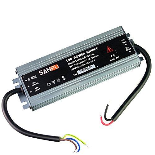 18 mm 12 V DC Wasserdicht LED Netzteil 12 V DC 120 W 10 A IP67 110 V 220 V AC DC Beleuchtung Trafo Treiber Dünn Slim Aluminium (SANPU CLPS120-W1V12) -