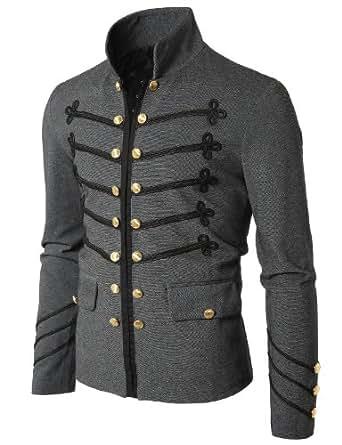 Mens Antique Short Jacket Blazer GREY (GAK08)  XXL(UK X-Large)