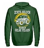Traktor Shirt · Landwirtschaft Spruch · Geschenk für Landwirte · Helden gelbe Felgen - Unisex Kapuzenpullover Hoodie