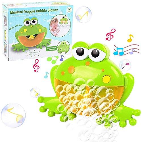 Yangmg Schaum Maker for Badewanne, Crab automatische Schaum Machine mit 12 Musik Song Baby Fun Dusche Spielzeug for Säuglinge Baby Kinder Kinder Happy Tub Time für Kinder Geschenk (Color : Frog) -