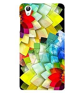 Multi Colour Flowers 3D Hard Polycarbonate Designer Back Case Cover for vivo Y51 :: VivoY51L