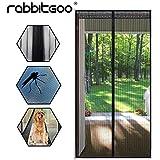 Rabbitgoo® Sommer Insektenschutz Magnetisch Bildschirm Abschirmung Tür Anti-Moskito Netz Türvorhang Schwarz mit Magnetverschluss 89*208cm