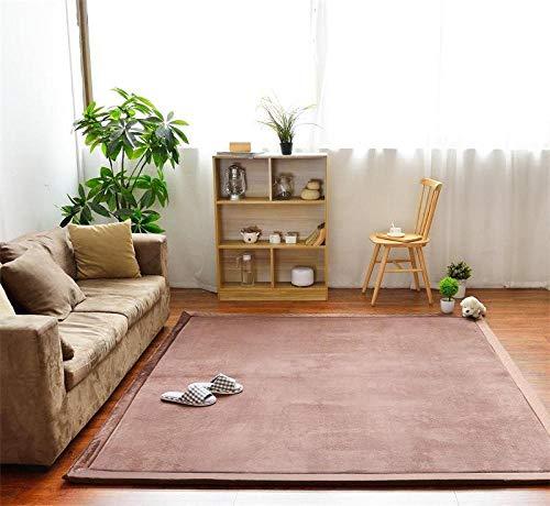 Lpfkkk Home Wohnzimmer Designer Teppich Kühlkriechmatte Wohnzimmer Schlafzimmer Erkerfenster Matte Korallen Samt Memory-Schaum-Pad braun @ 130 * 190CM - Importierte Designer-taschen