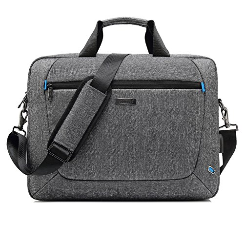 CoolBell 17.3 inch Laptoptasche Messenger Bag Aktentasche Handtasche Herren Umhängetasche Oxford Nylon Schultertasche Business Briefcase Laptop Tasche für 17-17,3 Zoll MacBook/Notebook(Grau)
