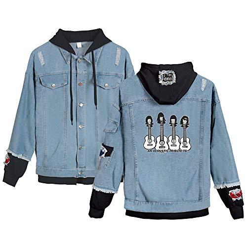 SQQZ Hoodie Hoodies für Damen Sweatshirt Lady Girl Coat Manteljacke Jeansjacke Jumper Unisex, Mode gedruckt Sänger Band Grafik Sweatshirts mit - Berühmte Sänger Kostüm