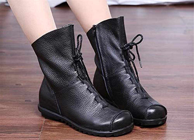 JUWOJIA Bottes en Femmes Chaussures en Bottes Cuir Martin Bottillons Chaussures Casual Chaussures Vintage Retro Design Bottes...B07KM4747KParent 9c5759
