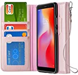 Ferilinso Cover Xiaomi Redmi 6A Custodia, Cover Cuoio Genuino Reale con Custodia Slot Holder per...