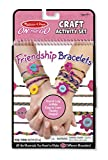 Craft kit comes with everything to create 10+ friendship bracelets;Includes 157.5 feet of colorful string, 9.8 feet of metallic string, 6 felt charms, double-sided foam mini loom, 8 beads, and instructions;Features detailed full-color illustrations a...