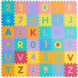 Saflyse 36tlg Kinder Buchstaben Zahlen Puzzlematte Spielmatte Spielteppich Schaumstoff Lernteppich