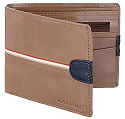 MarkQues Super Beige Synthetic Mens Wallet (SP-4420)