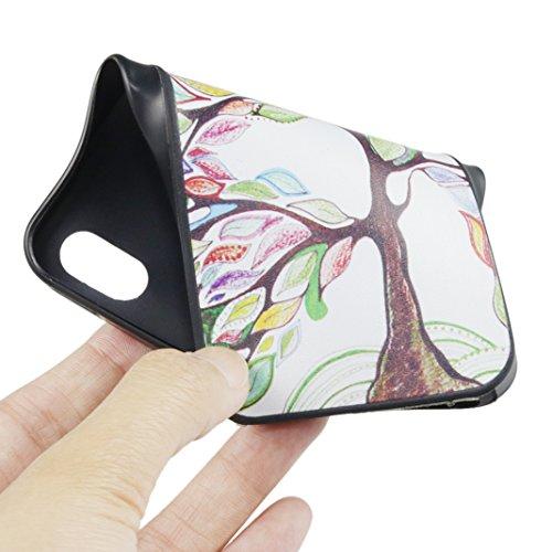 iPhone 5/5S/SE Hülle, Asnlove TPU Handy Schutzhülle für Apple iPhone 5/5S/SE Silikon Weich Handytasche Traumfänger Tasche Schutz Cover Color-3