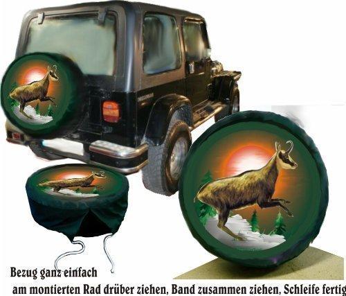 Bezug Reserverad Abdeckung Wildmotiv Gamsbock für Jagd - Fans für Ihren Jeep (Jeep Reserverad Abdeckung Jagd)