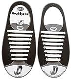Fangblatt Elastische Schnürsenkel – Das Einfache Schnellschnürsystem für Schuhe – für Damen, Herren und Kinder Geeignet – Weiße Schnürbänder aus reißfestem Silikon