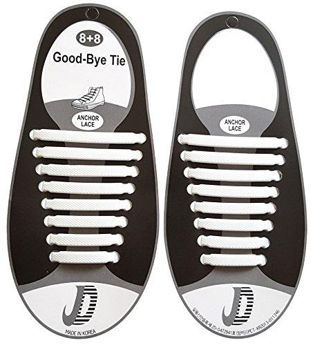 elastische Schnürsenkel - das einfache Schnellschnürsystem für Schuhe - Ersatzschnürsenkel für Erwachsene und Kinder für verschiedene Schuhe geeignet - weiße Schnürbänder aus dehnbaren Silikon -