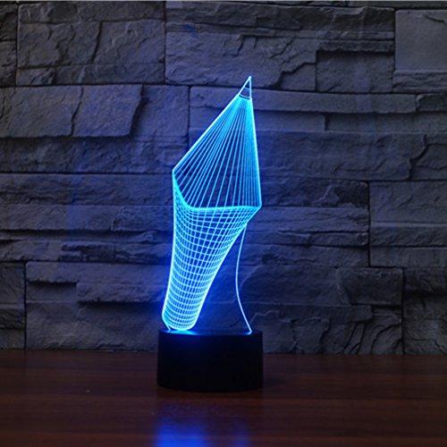3d pen lámpara ilusión óptica luz nocturna, jawell 7cambia de color Touch...