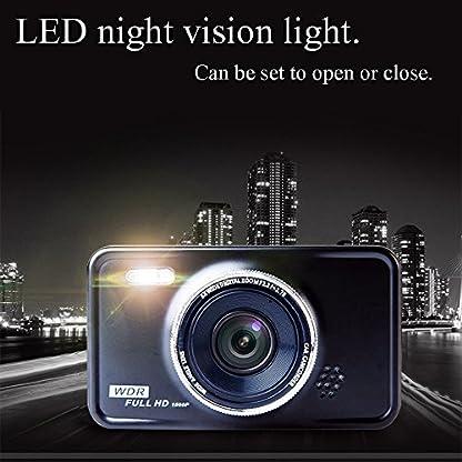 KASSADIN-Dashcam-1080P-Full-HD-Auto-Kamera-DVR-Armaturenbrett-Kamera-Video-Recorder-76-cm-LCD-Display-6G-Objektiv-mit-WDR-Loop-Recording-G-Sensor-Bewegungserkennung