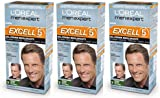 3 x L'ORÉAL LOREAL PARIS MEN EXPERT EXCELL 5 HAIR DYE COLOUR PERMANENT NATURAL (7 - Natural Dark Blonde)