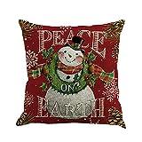 RWINDG Weihnachten Printing Baumwolle Cotton Kinderbettwäsche Färben Schlafsofa Home Decor Kissenbezug Kissenbezug