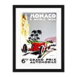 Vintage Advert Transport Grand Prix Monaco Large Art Print