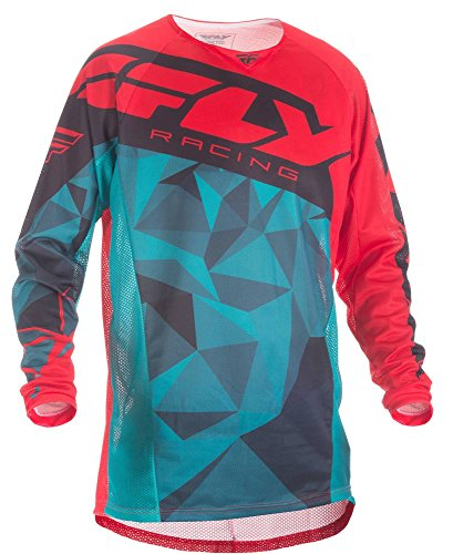 Fly Racing Mountainbike & Motocross Mesh Hemd teal-rot-schwarz Fahrerhemd - Fox Racing Jersey-stretch