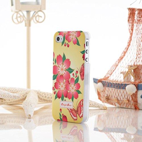 iPhone Case Cover Farbe Malerei Kleine Blumen-harten Plastikkasten-Abdeckung für iPhone 4 4S ( Color : 9 ) 12