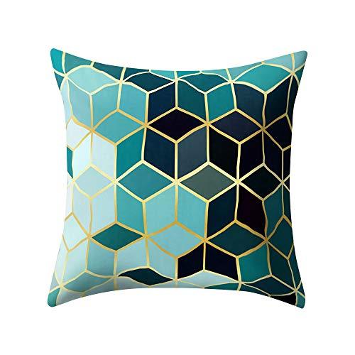 FeiliandaJJ Kissenbezug Platz Muster Kissenhülle Kopfkissenbezug Home Dekoration Pillowcase Super Weich Sofakissen für Wohnzimmer Sofa Bed,45x45cm (B) -