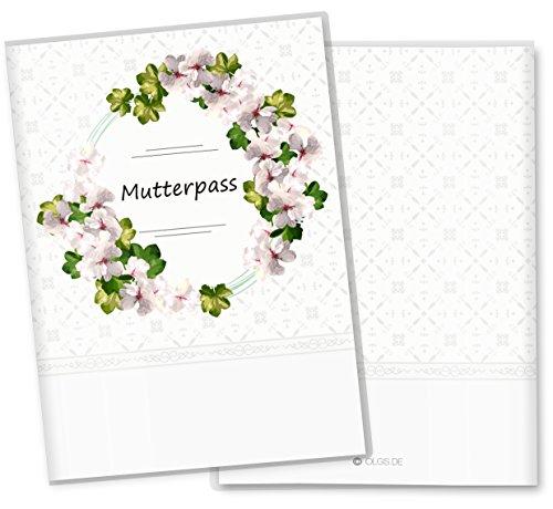 Drei Magnolien (Mutterpasshülle 3-teilig Blumenkranz Schutzhülle Geschenkidee (Mutterpass ohne Personalisierung, Magnolia))