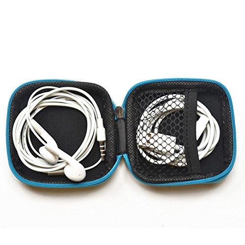 sungpunet Mini Square Aufbewahrungstasche für Kopfhörer USB Kabel SD TF Karten Tasche schwarz - 3