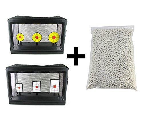 Airsoft-Zielscheiben von HTUK® - Elektronisch, autom. Rücksetzfunktion, gratis zusätzlich 2000 Kugeln zu je 0,20 g
