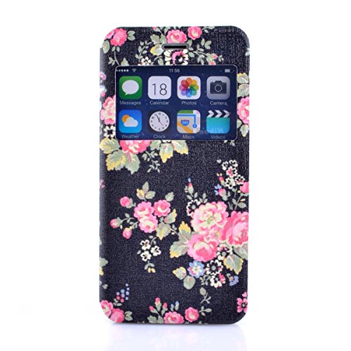 iPhone 6S Copertura,iPhone 6 Custodia, iPhone 6S case,iPhone 6 cover,Floreale flowers PU Flip di portafoglio in pelle Case per iPhone 6S /6 4.7 inch-colour colour4