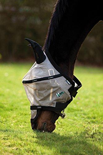 Horseware Rambo Plus Fly Mask Vamoose Fliegenmaske Silver/Purple Small Pony / Pony / Cob / Horse (Cob)