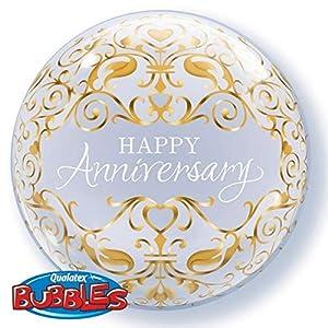 Qualatex 16660 Anniversary Classic - Globo de látex con Burbujas de 55 cm