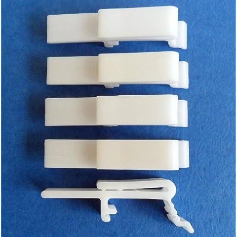 Estor Vertical el polvo Valance Clip Holder Soporte, 4unidades
