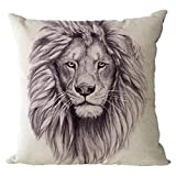 Nunubee Cotton Linen Cushions Cover Protectors 18x18In/45x45cm Pillowcase Throws Pillow Case Sofa Decoration