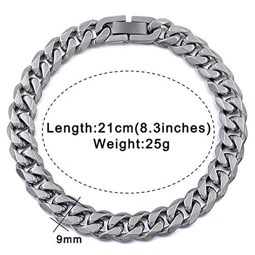 99cd69283be1d Pulsera Brazalete Joyería,Jewelry Men Bracelet Cuban Links & Chains  Stainless Steel Bracelet For Bangle Male Accessory Wholesale B284 9mm  Silver ...