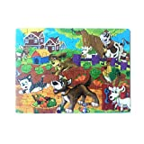 60 Stücke Holz Holzpuzzle YunYoud Hölzernes interessantes Puzzlespiel pädagogisches Baby scherzt Spielzeug online günstig Natur Spielzeug Kinder Spielzeug