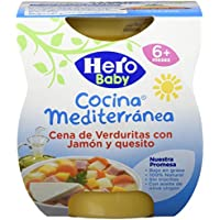 Hero Baby Cocina Mediterránea Cena de Verduras Con Jamón Y Quesito - 400 g