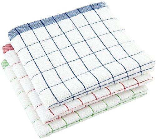 elauelue Geschirrtücher - Microfaser mit Baumwolle für schnelles Geschirr Abtrocknen - Mikrofaser Geschirrtuch saugstark weich und fusselfrei - Abtrockentücher - Geschirrhandtücher 3er-Set