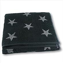 Cawo, Toalla Ducha Stars Pequeña, Toalla De Ducha Pequeña Y Reversible Con Estrellas, 70X140 Cm - Gris Y Antracita