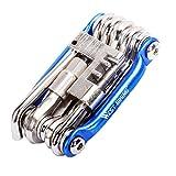 Bike Repair Tools Kit Set & Wartung, West Biking Mini Compact Fahrrad Multi Werkzeug mit Inbusschlüssel, Kinder Herren damen, blau